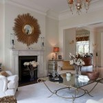 coffee table decorations living room transitional with round outside mount roman shades