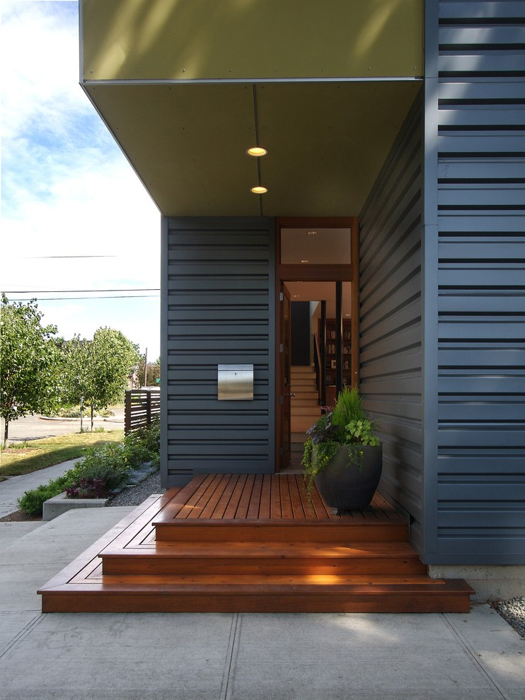 Corrugated Metal Siding Exterior Contemporary with Shed ... on Siding Modern  id=55217