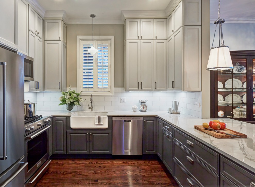 Dark Maple Cabinets with Beverage Center Wood-look Tile ... on Dark Maple Cabinets  id=71805