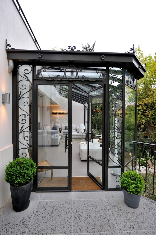 enclosed patio ideas contemporary with concrete paving ... on Inclosed Patio Ideas  id=92038