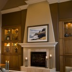 fireplace wall decor bedroom transitional with recessed tv white blades