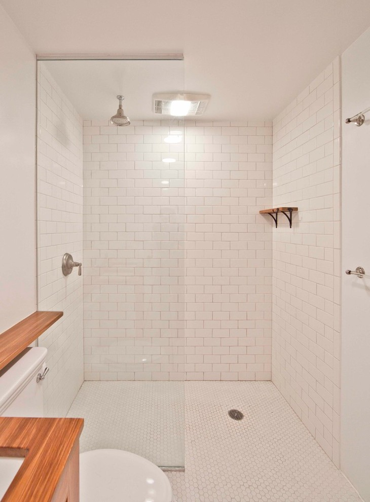 Glass Shower Partition Bedroom Scandinavian With