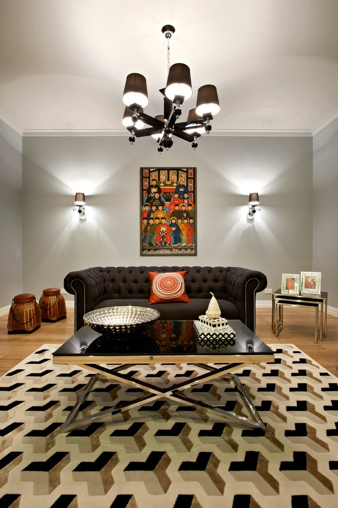 Houzz Area Rugs Living Room Midcentury With Sofa Natural