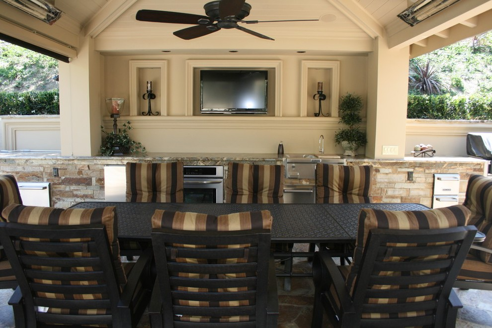 houzz outdoor kitchens patio tropical with counter umbrellas on Houzz Backyard Patios  id=99282