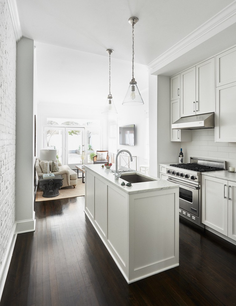 long narrow console kitchen contemporary with island on kitchen remodeling and design ideas hgtv id=71854