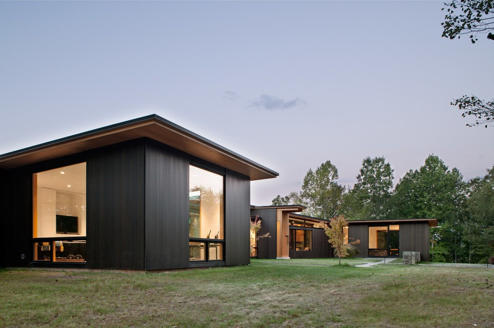 modern wood siding exterior with contemporary outdoor ... on Siding Modern  id=68072
