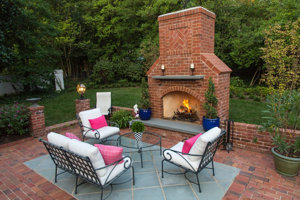 outdoor brick fireplace deck traditional with siding steel ... on Simple Outdoor Brick Fireplace id=78065