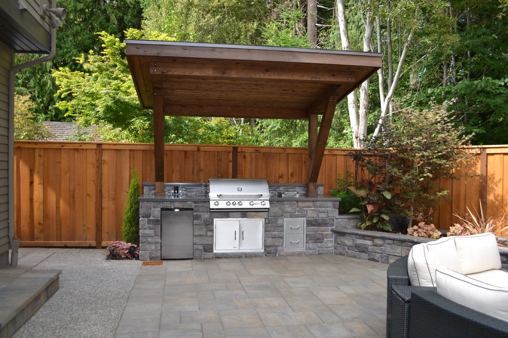 Pergola Roof Ideas Exterior Traditional with Beige Post ... on Patio Grilling Area  id=35124