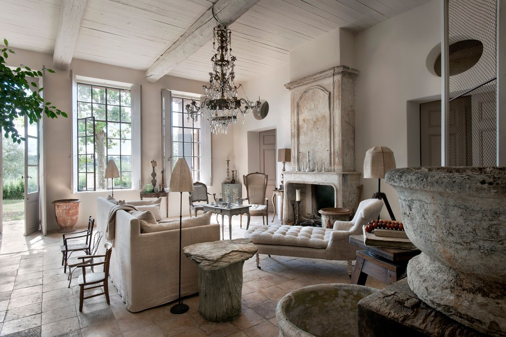 Beige Floor Lamps Country French Living Room Ideas