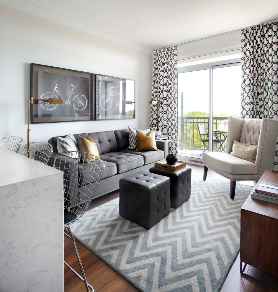 Toronto Jute Chevron Rug Living Room Transitional With Black And White Lattice Curtains
