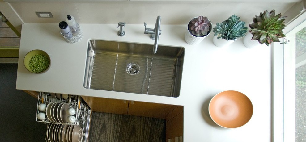 beadboard wall small corner sinks with plants and trees contemporary san francisco