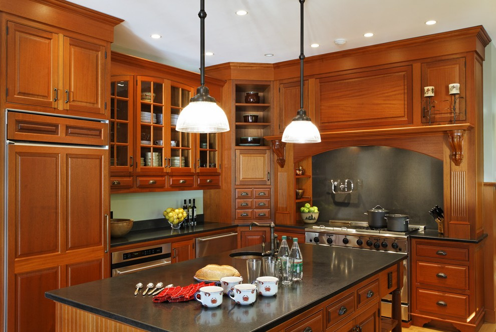 boston maple cabinets with black granite kitchen rustic ... on Maple Cabinets  id=65996
