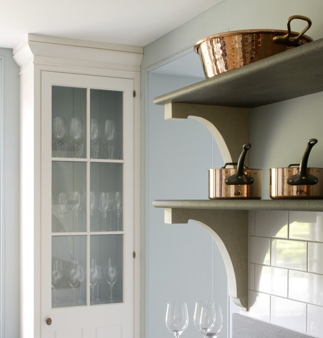 hampshire kitchen shelf brackets with spaces transitional and copper oven