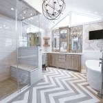 houston silver floor mirror with chrome cabinet and drawer pulls bathroom transitional fixtures large damask wallpaper