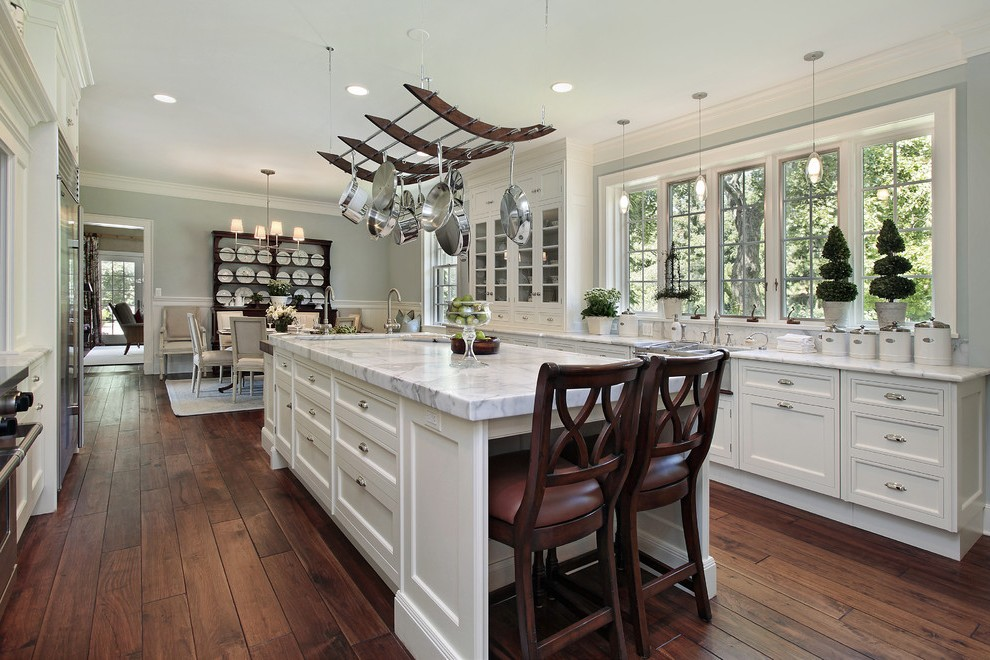 los angeles large paint stencils with black hanging pot racks kitchen traditional and white cabinets remodel