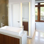 san diego bathroom vessel sink ideas with modern faucets and wall lighting waterfall counters