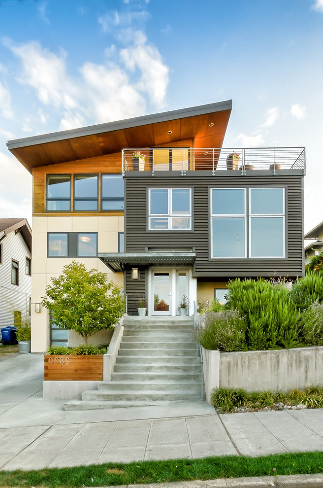 seattle house siding options exterior modern with wood ... on Siding Modern  id=37211