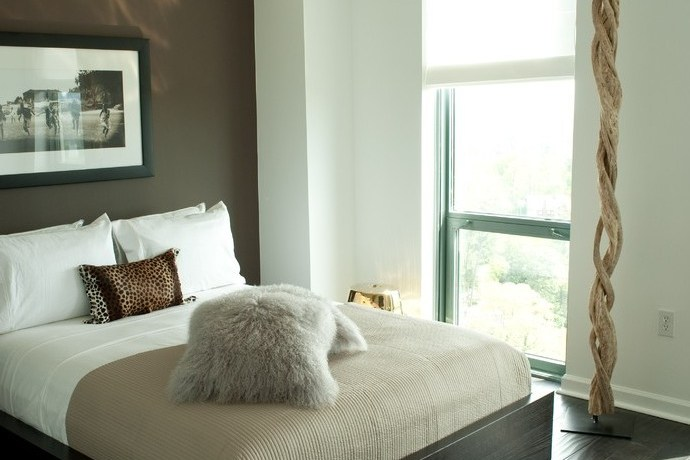 atlanta silver bedroom decor with glass shade contemporary and modern brown