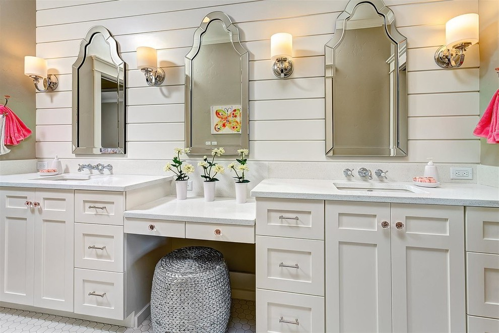 Boise 72 Inch Double Vanity Bathroom Traditional With White Countertop Septic Tank Services