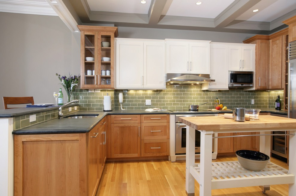 boston kitchen colors with maple cabinets traditional grey ... on Maple Cabinets  id=51343