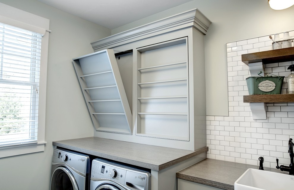 grand rapids wall laundry drying rack room transitional on laundry room wall covering ideas id=73231