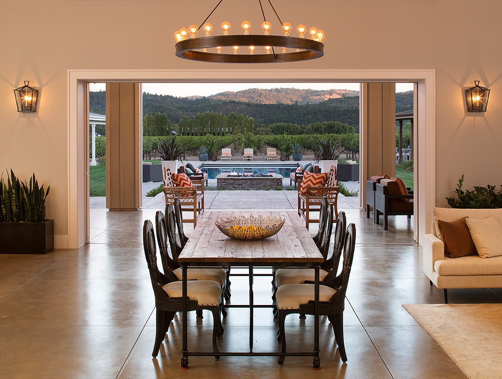 Good Looking Farm Dining Room With Pedestal Chairs Magazine Storage