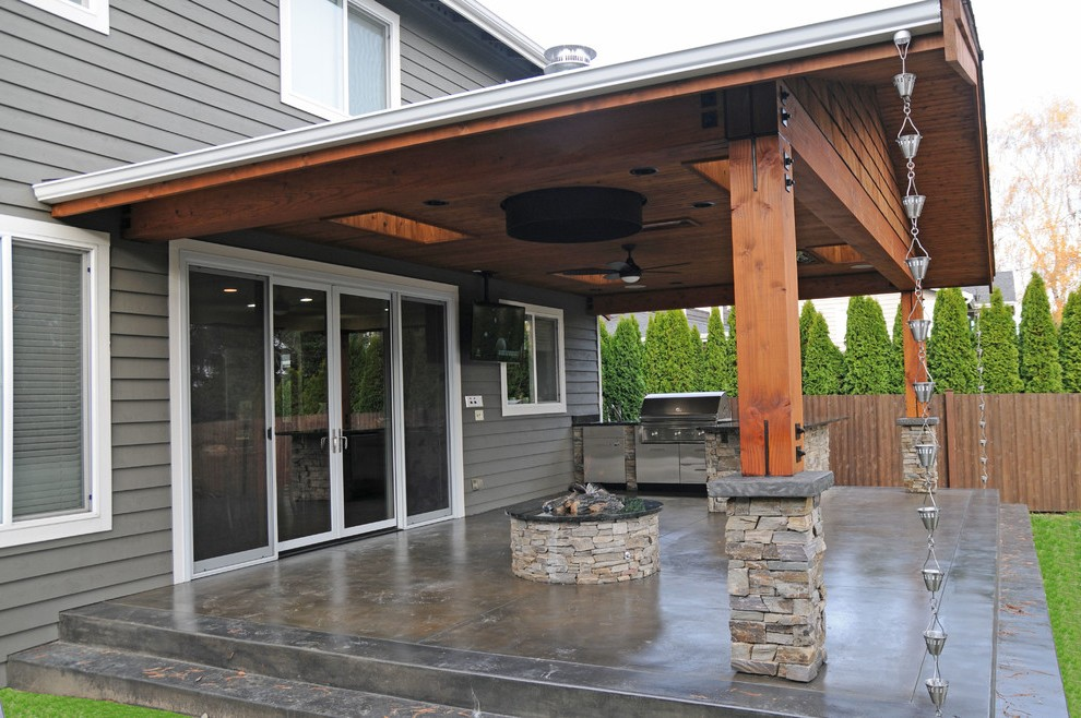 seattle cover patio ideas craftsman with covered round ... on Backyard Patio Cover Ideas  id=13066