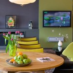 united states sage green home with contemporary artificial flowers dining room and accent wall olive