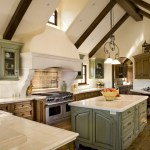 united states sage green home with contemporary gas and electric ranges kitchen rustic vaulted ceiling cabinets