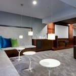 denver basement decorating ideas with fabric shade contemporary and white lighting built-in bench seat