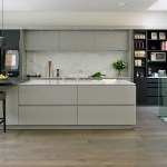 london kitchen island seating with walnut bar height stools contemporary and internal drawers concealed ovens