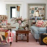 boston pastel colored rooms with plaid decorative pillows living room farmhouse and hutch light blue fabric couch