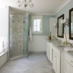 dc metro benjamin moore white dove with wooden bathroom cabinets traditional and molding gray shower tile