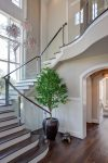 Awesome Railings For Stairs Staircase Rustic with Wall Lighting No Railing