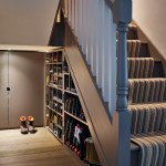 london stormy monday paint with contemporary products hall and brown staircase