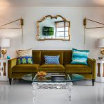 miami lamps home goods with contemporary decorative pillows living room and vibe green velvet sofa