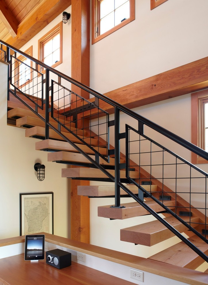 Milwaukee Outdoor Stair Railing Ideas Staircase Farmhouse With | Modern Outdoor Stair Railing | Front Door | Outer | Cool | House | Craftsman Style