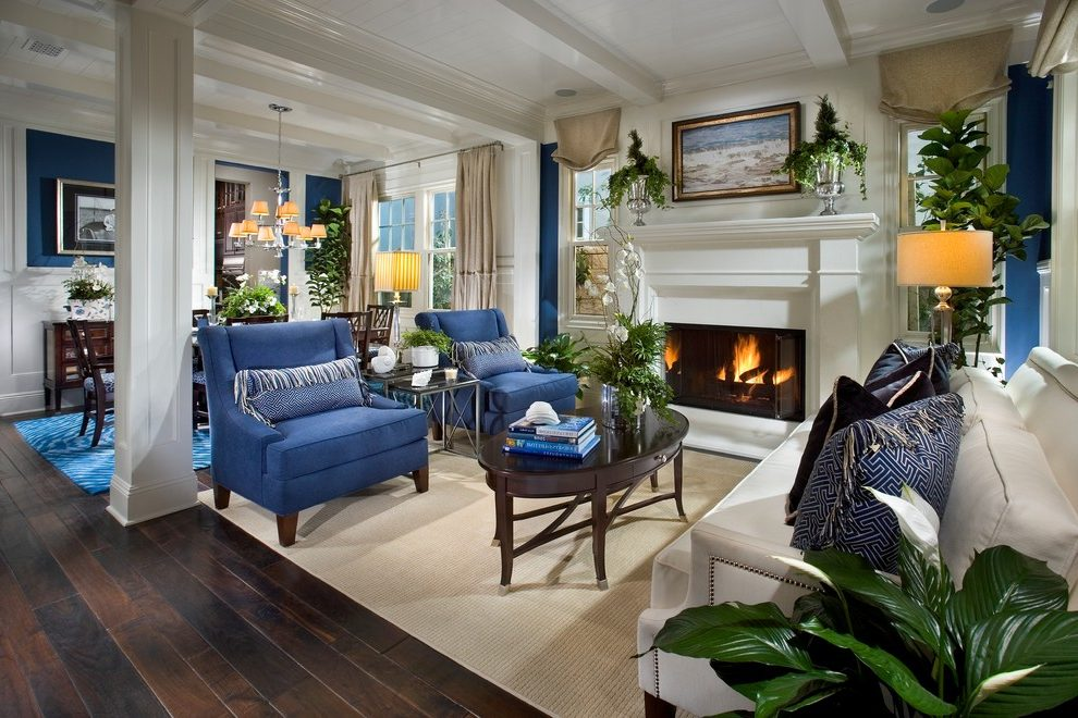 Orange County Navy Blue Sofas Living Room Traditional With Furniture Made Area Rugs Wingback Chair