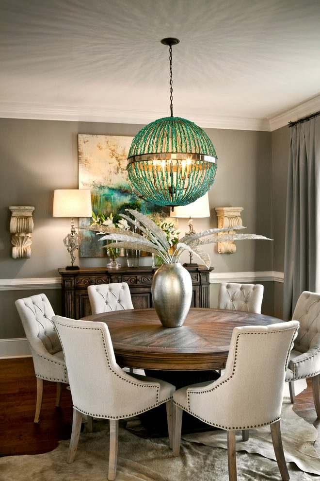 United States 72 Round Dining Table Room Transitional With