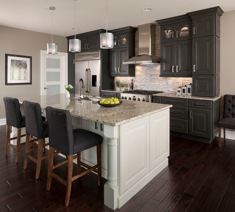Detroit Mismatched Kitchen Cabinets Transitional With Gray