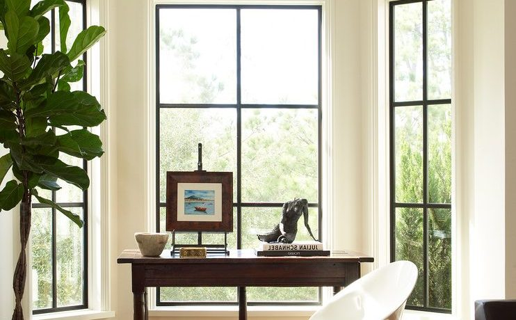 houston bay window valance with contemporary computer desks home office transitional and white chair fiddle leaf fig