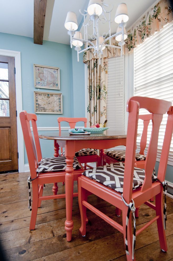 Delightful Exotic Paint Colors Dining Room Eclectic with ... on Farmhouse:-Cra1Rtrksu= Dining Room Curtains  id=63643