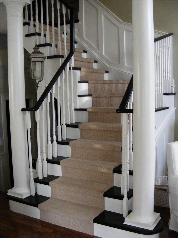 Fabulous Espresso Wood Paint Staircase Traditional With