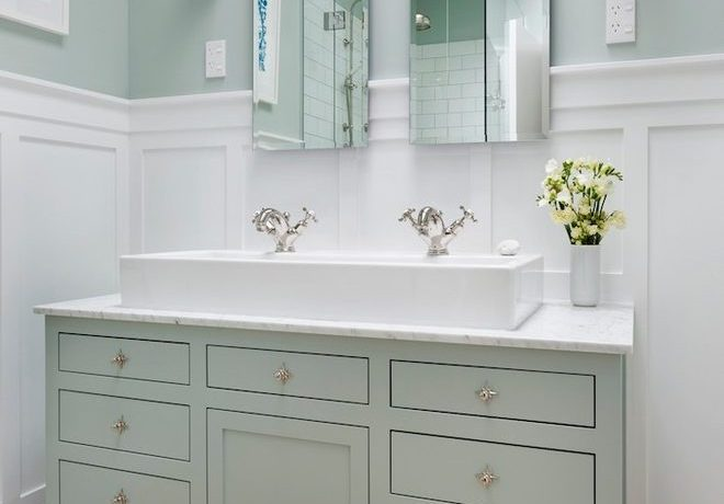 auckland traditional wainscoting with backsplash bathroom and glass shower door unframed mirrors