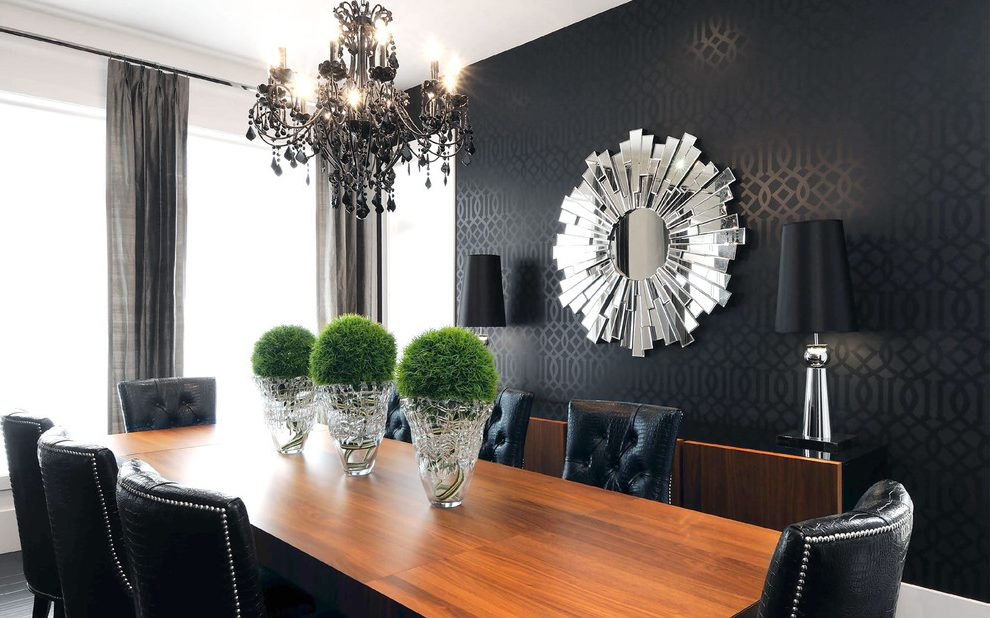 canada black and grey damask wallpaper with contemporary dining room wallcoverings curtains