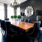 canada black silk drapes with contemporary floor mirrors dining room and baseboards wallpaper