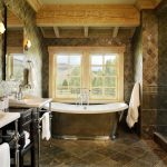 denver tub and shower with contemporary bath sheets bathroom rustic brown stone floor freestanding