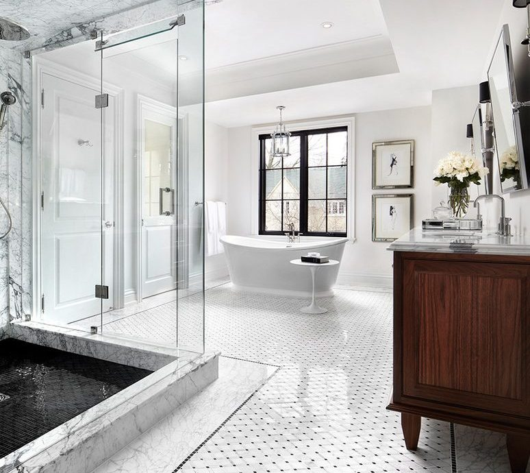 toronto black silk drapes with contemporary mosaic tiles bathroom transitional and lampshade white countertop
