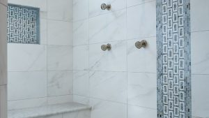 United States Marble Shower Bench Bathroom Transitional