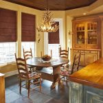 roman shades with border tropical dining room chairs and